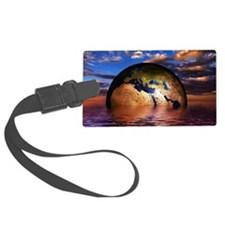 Earth is Universal Large Luggage Tag