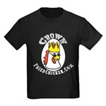 CrownFriedChicken.Com Rooster Kids Dark T-Shirt