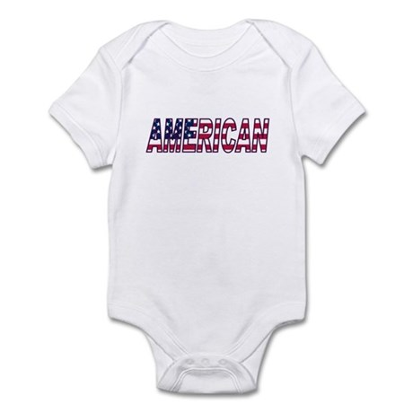 US Flag American Infant Bodysuit