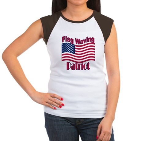 Patriot Flag Women's Cap Sleeve T-Shirt