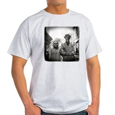 Black and White Freaky Vintage Coupl T-Shirt