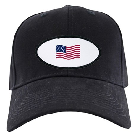 US Waving Flag Black Cap