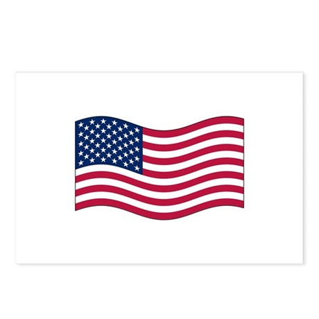 US Waving Flag Postcards (Package of 8)