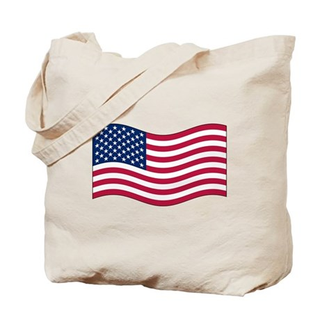US Waving Flag Tote Bag