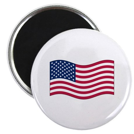 "US Waving Flag 2.25"" Magnet (100 pack)"