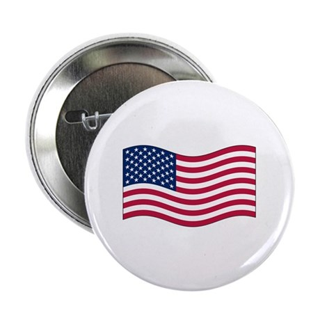 "US Waving Flag 2.25"" Button (100 pack)"