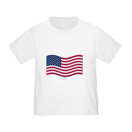 US Waving Flag Toddler T-Shirt