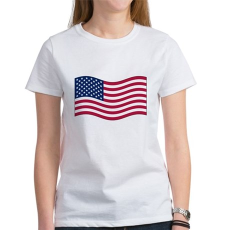 US Waving Flag Women's T-Shirt