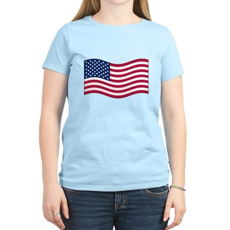 US Waving Flag Women's Light T-Shirt