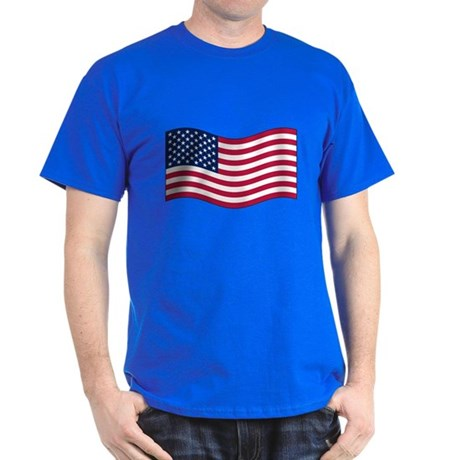 US Waving Flag Dark T-Shirt