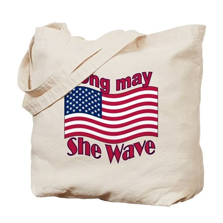 Long may she wave Tote Bag