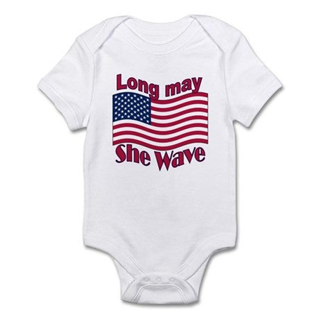 Long may she wave Infant Bodysuit