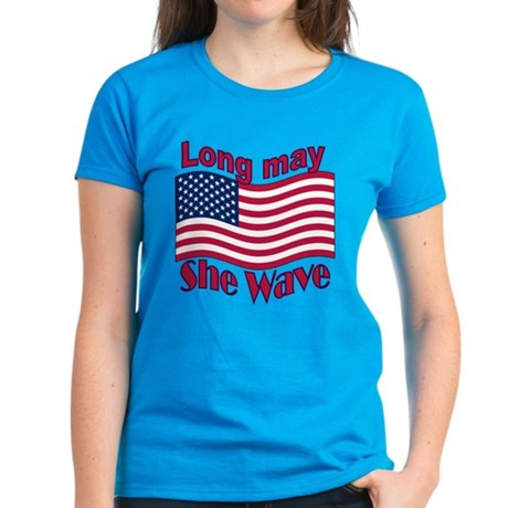 Long may she wave Women's Dark T-Shirt