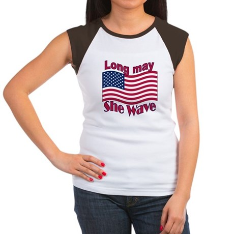 Long may she wave Women's Cap Sleeve T-Shirt