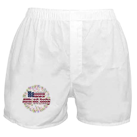 Happy 4th of July Fireworks Boxer Shorts