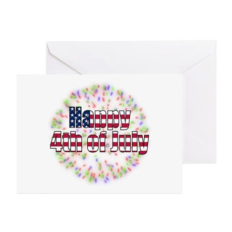 Happy 4th of July Fireworks Greeting Cards (Packag