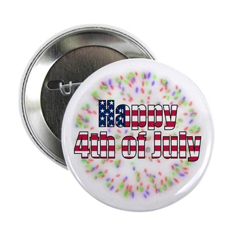 "Happy 4th of July Fireworks 2.25"" Button (100 pack"