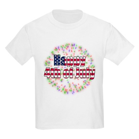 Happy 4th of July Fireworks Kids Light T-Shirt
