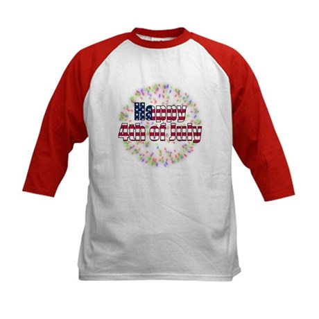 Happy 4th of July Fireworks Kids Baseball Jersey