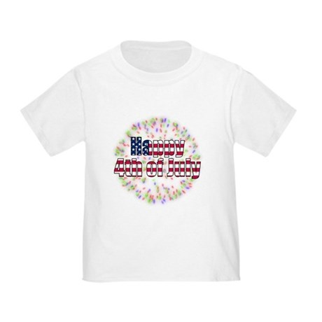 Happy 4th of July Fireworks Toddler T-Shirt