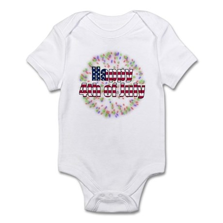 Happy 4th of July Fireworks Infant Bodysuit