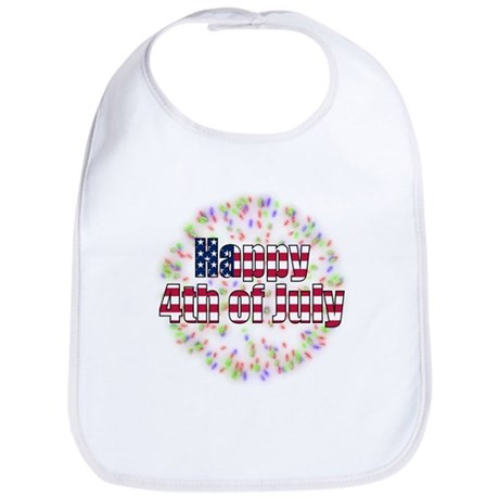 Happy 4th of July Fireworks Bib