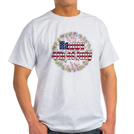 Happy 4th of July Fireworks Light T-Shirt