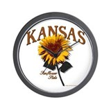Kansas - The Sunflower State! Wall Clock