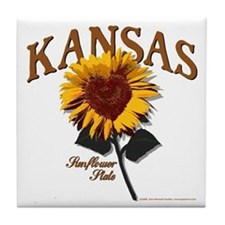 Kansas - The Sunflower State! Tile Coaster