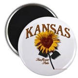 Kansas - The Sunflower State! Magnet