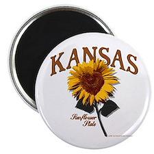 Kansas - The Sunflower State! Magnet