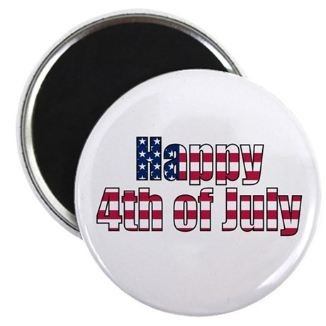 "Happy 4th of July 2.25"" Magnet (100 pack)"