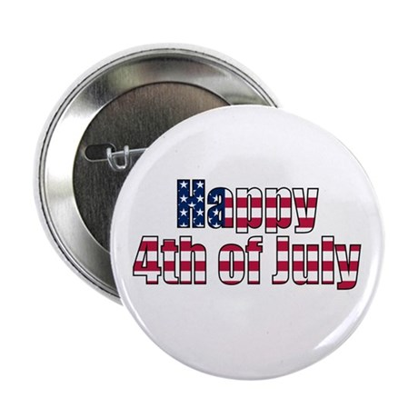 "Happy 4th of July 2.25"" Button (10 pack)"