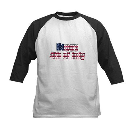 Happy 4th of July Kids Baseball Jersey