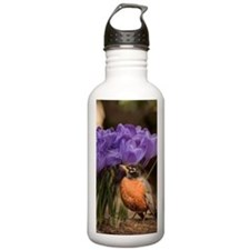 Robin and Crocus Water Bottle