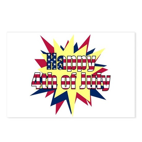 Starburst 4th of July Postcards (Package of 8)