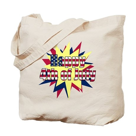 Starburst 4th of July Tote Bag
