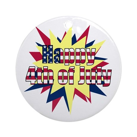 Starburst 4th of July Ornament (Round)