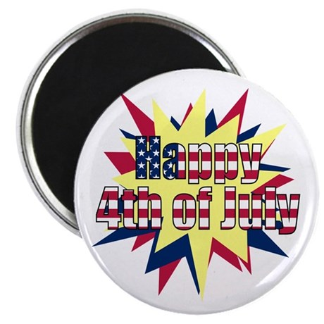 Starburst 4th of July Magnet