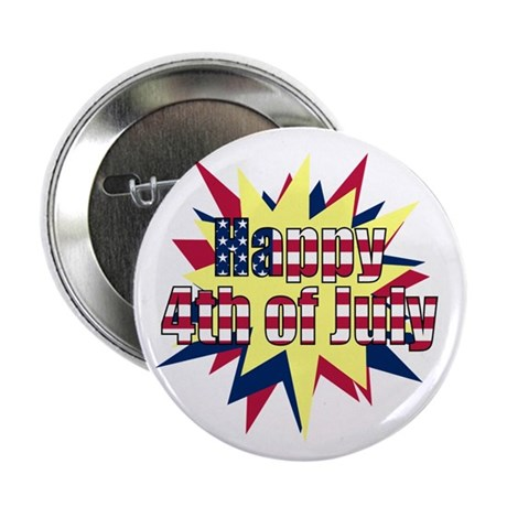 "Starburst 4th of July 2.25"" Button (100 pack)"