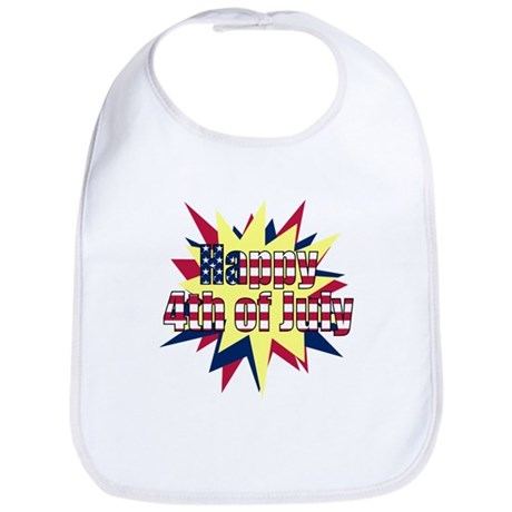 Starburst 4th of July Bib