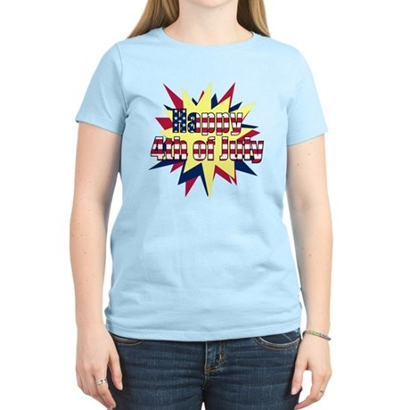 Starburst 4th of July Women's Light T-Shirt