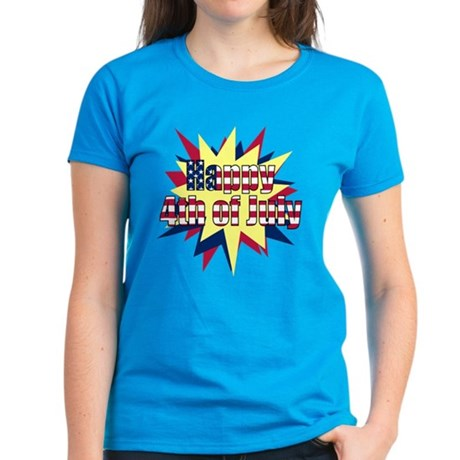 Starburst 4th of July Women's Dark T-Shirt