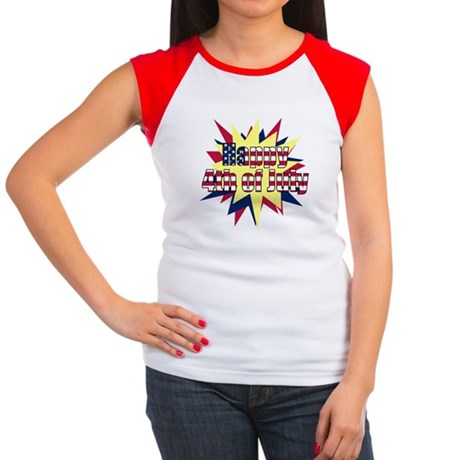 Starburst 4th of July Women's Cap Sleeve T-Shirt