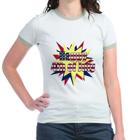 Starburst 4th of July Jr. Ringer T-Shirt