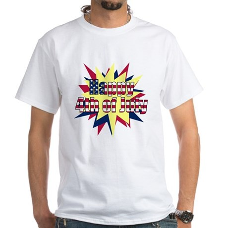 Starburst 4th of July White T-Shirt