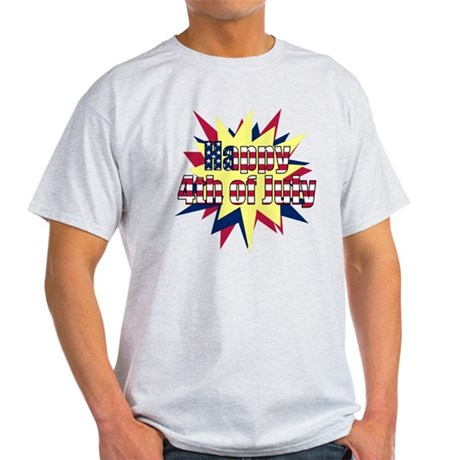 Starburst 4th of July Light T-Shirt