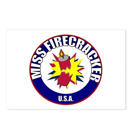 Miss Firecracker Postcards (Package of 8)