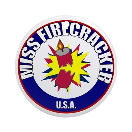 Miss Firecracker Ornament (Round)