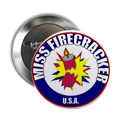 "Miss Firecracker 2.25"" Button (100 pack)"